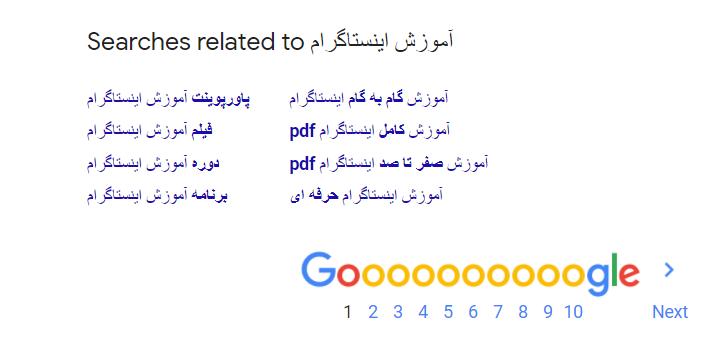 یافتن عبارات کلیدی از جستجوی گوگل